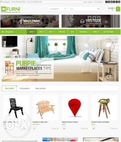 commerce Website for Sale at JOD 199 ONLY